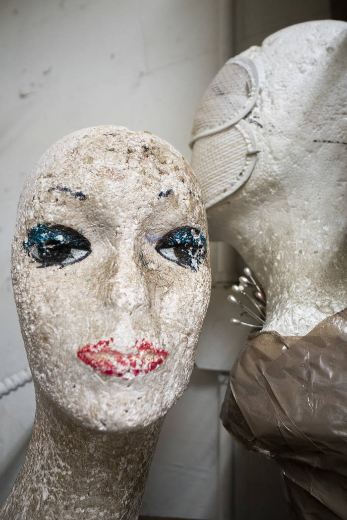 An old mannequin head photographed at American Costumes in Las Vegas, Tuesday, Aug. 28, 2018. After 40 years of business, American Costumes will close this year. (Marcus Villagran/Las Vegas Revie ...