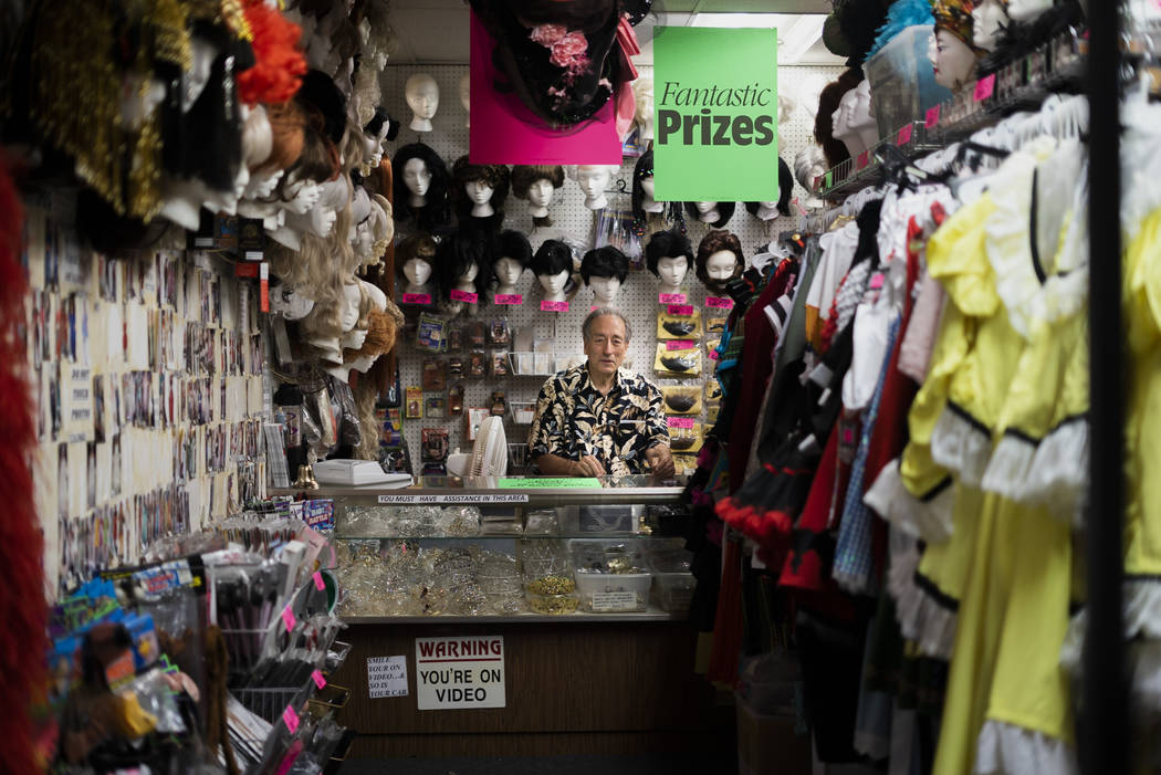 Martin Sadowitz, owner of American Costumes, poses for a photograph in his store in Las Vegas, Tuesday, Aug. 28, 2018. After 40 years of business, American Costumes will close this year. (Marcus V ...