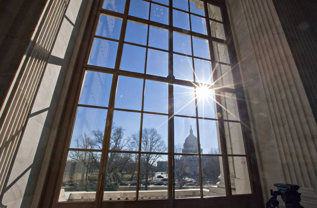The Capitol is seen from the Russell Senate Office Building on Capitol Hill in Washington on Jan. 27, 2014. (AP Photo/J. Scott Applewhite, File)