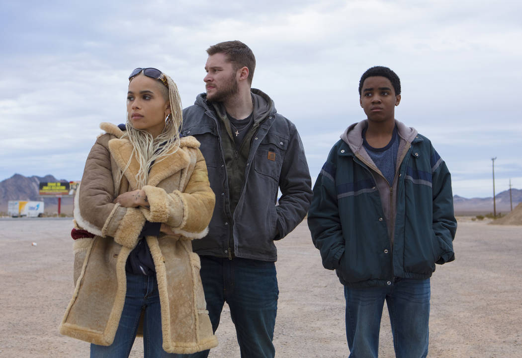 Milly (Zoe Kravitz), Jimmy (Jack Reynor, center) and Eli (Myles Truitt, right) in KIN. Photo Credit: Alan Markfield
