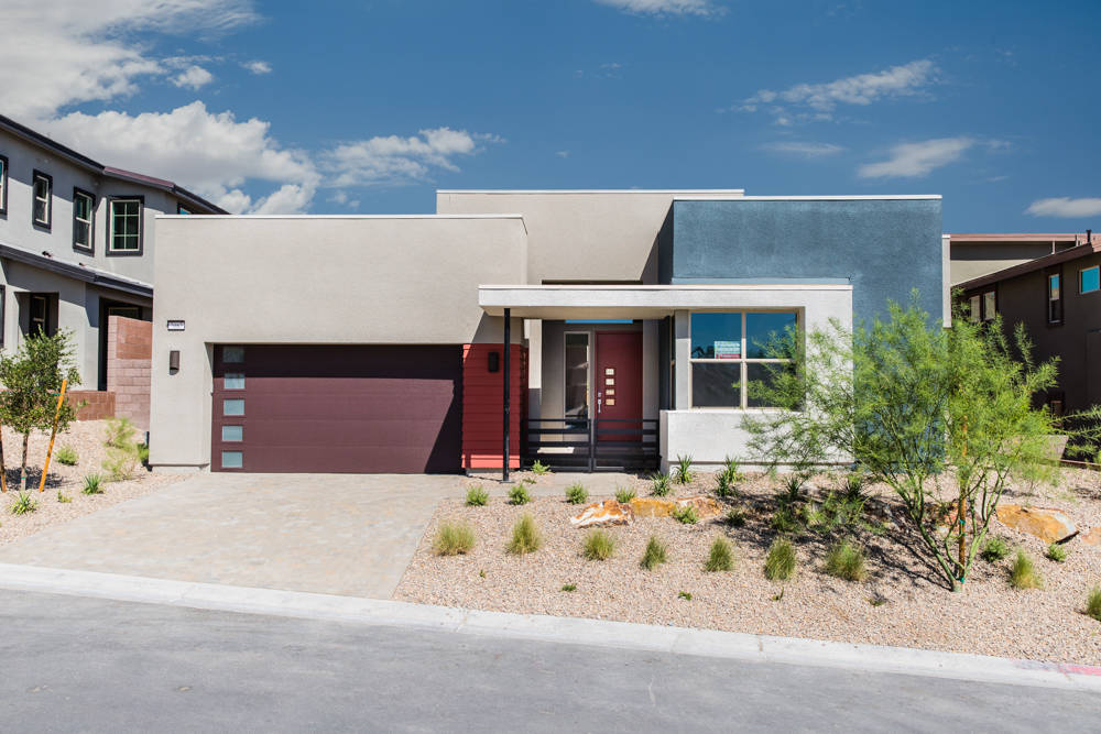 Pardee Homes' new Terra Luna neighborhood in The Cliffs village in South Summerlin offers four modern floor plan designs and a limited number of move-in-ready homes, including this Plan One at hom ...