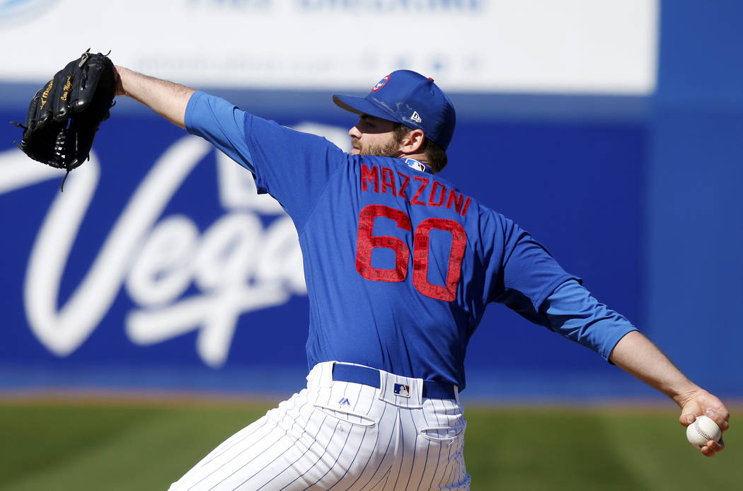 4566034782b96 Chicago Cubs  Cory Mazzoni (60) pitches during the annual Big League  Weekend baseball