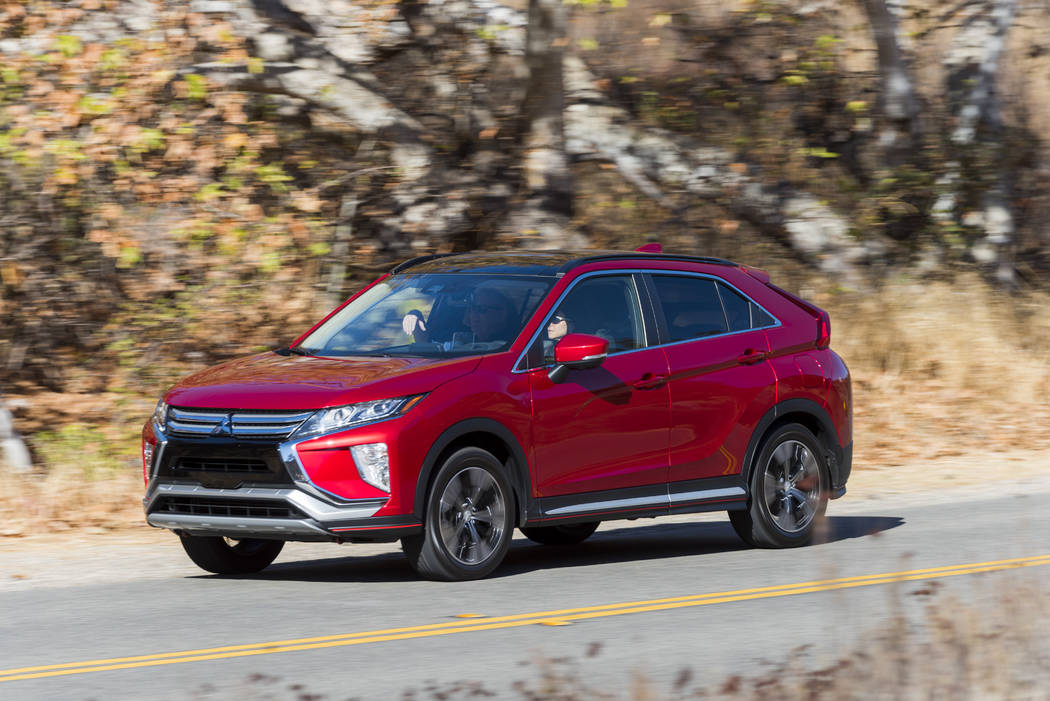 The 2018 Mitsubishi Eclipse Cross will be available for zero financing during Labor Day weekend at Las Vegas Mitsubishi. (Mitsubishi)