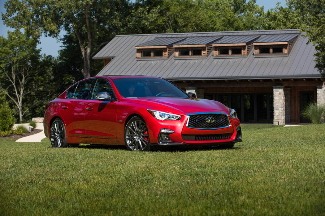 Infiniti of Las Vegas is touting a special lease offering for the 2018 Q50 sedan. (Infiniti)
