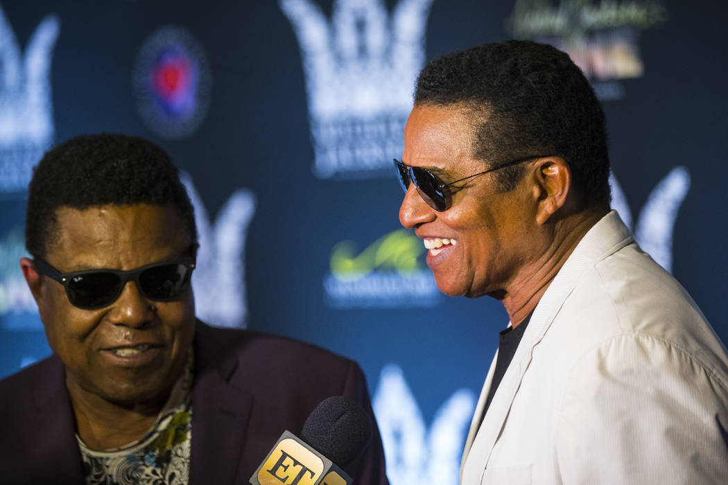 Tito Jackson, left, and Jackie Jackson on the red carpet ahead of the Michael Jackson 60th birthday celebration at Manalay Bay in Las Vegas on Wednesday, Aug. 29, 2018. Chase Stevens Las Vegas Rev ...