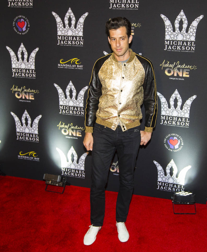 Mark Ronson poses on the red carpet ahead of the Michael Jackson 60th birthday celebration at Manalay Bay in Las Vegas on Wednesday, Aug. 29, 2018. Chase Stevens Las Vegas Review-Journal @cssteven ...