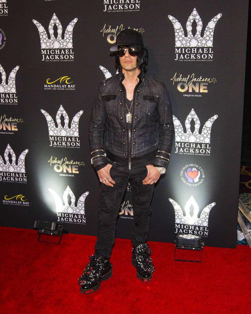 Criss Angel poses on the red carpet ahead of the Michael Jackson 60th birthday celebration at Manalay Bay in Las Vegas on Wednesday, Aug. 29, 2018. Chase Stevens Las Vegas Review-Journal @cssteven ...