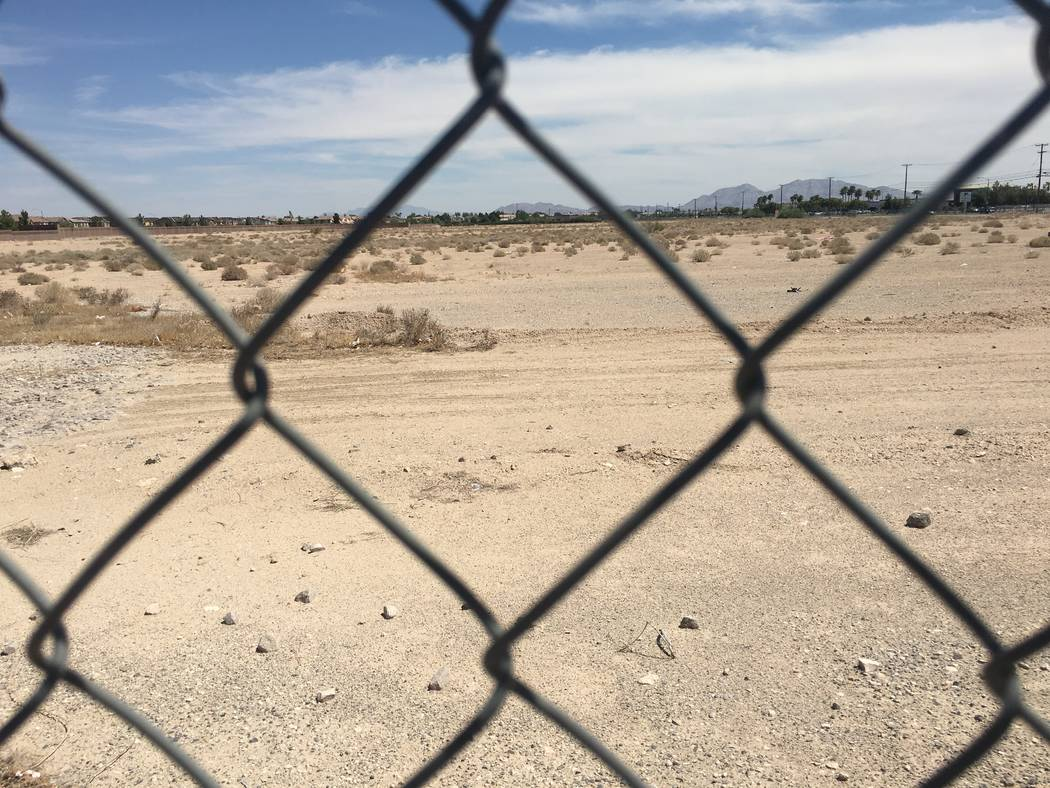 Warehouse developer Matter Real Estate Group bought 33 acres at the northeast corner of Cheyenne Avenue and Valley Drive in North Las Vegas, as seen Wednesday, Aug. 29, 2018. (Eli Segall/Las Vegas ...