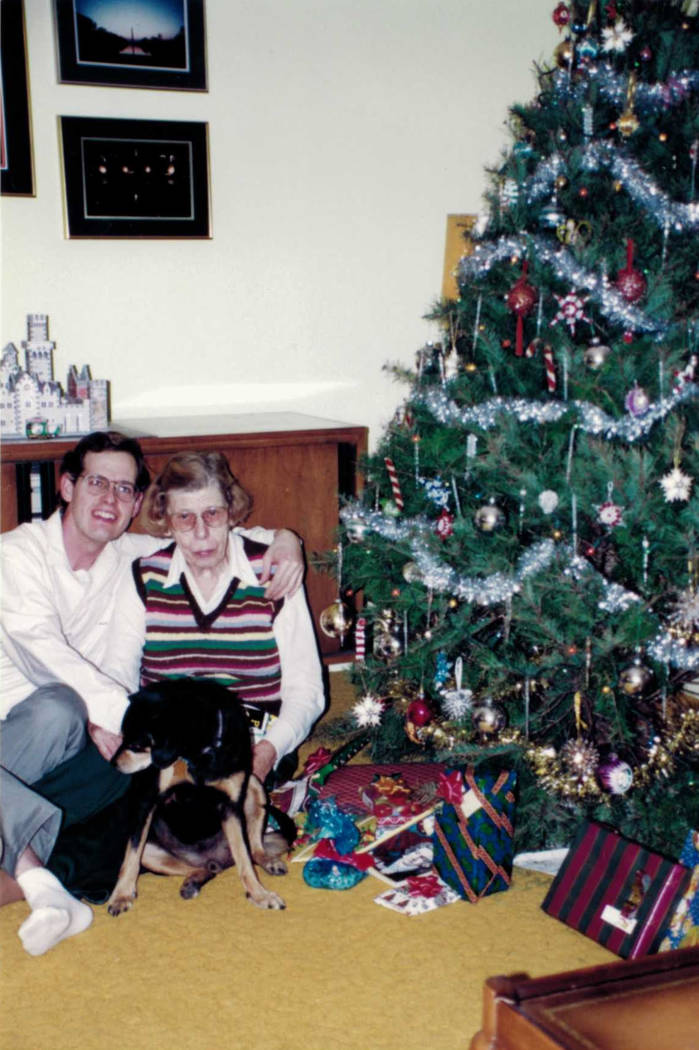 In this 1995 photo, Dorothy Sargent poses with her son, Keith Sargent, during Christmas. Las Vegas police recently identified a suspect in the woman's 2005 killing. (Keith Sargent)