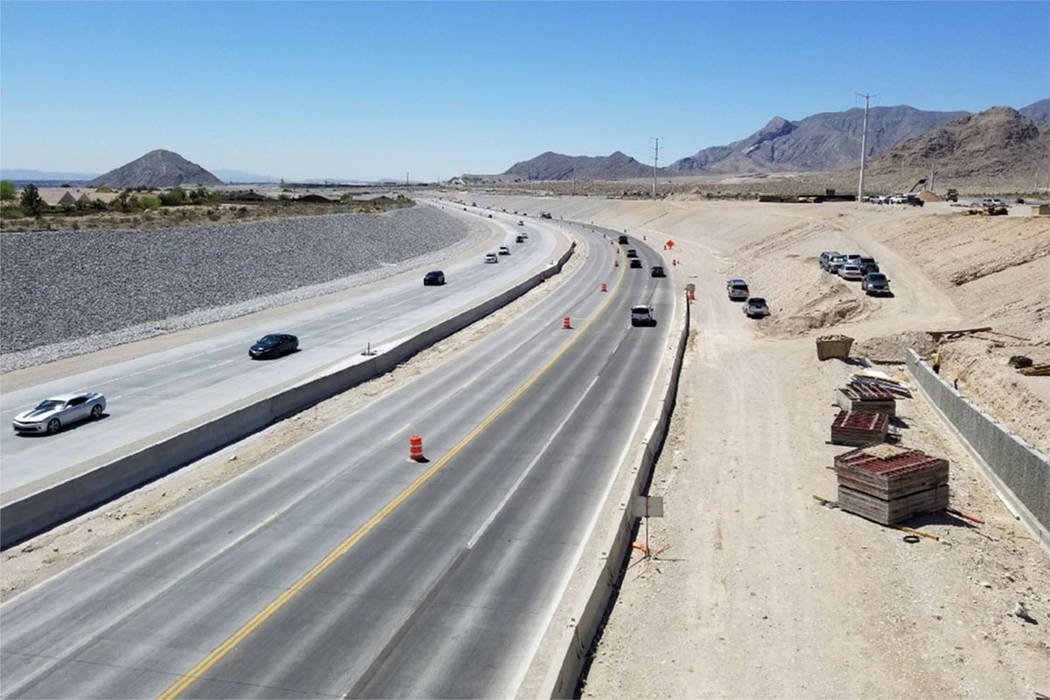 The 215 Beltway in northwest Las Vegas. (Clark County)