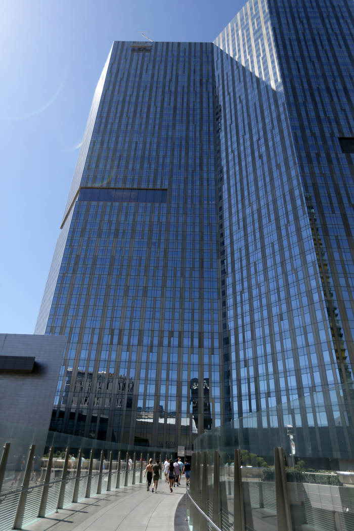 The Waldorf Astoria on the first day for the new Las Vegas hotel formerly known as Mandarin Oriental on the Strip Friday, Aug. 31, 2018. K.M. Cannon Las Vegas Review-Journal @KMCannonPhoto