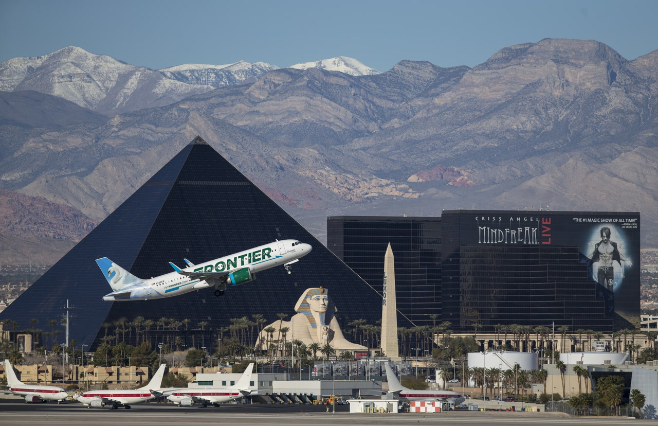 Frontier Airlines To Launch Flights From Las Vegas To