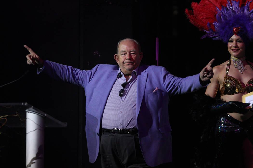 Robin Leach presents an award during the 2016 Best of Las Vegas Awards at The Venetian on Saturday, Nov. 5, 2016, in Las Vegas. (Erik Verduzco/Las Vegas Review-Journal)