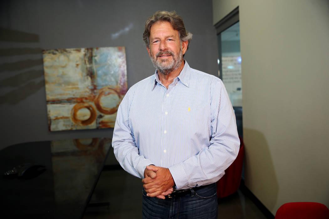 Steven Leach, son of celebrity columnist Robin Leach, poses for a photo during an interview in Henderson, Friday, Aug. 24, 2018. Erik Verduzco Las Vegas Review-Journal @Erik_Verduzco