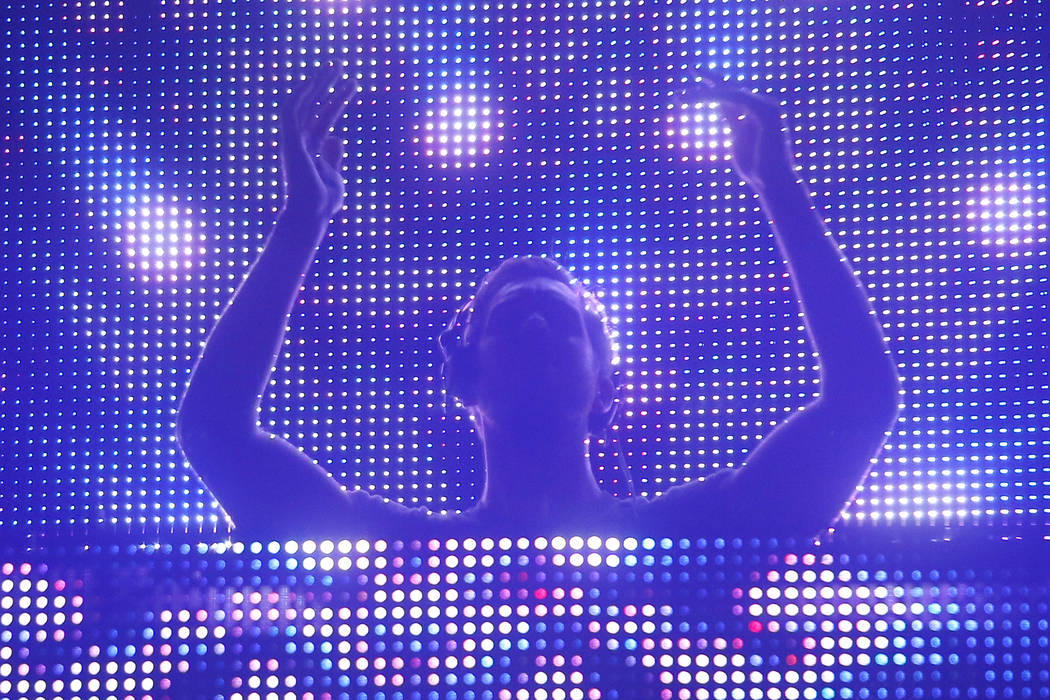 Calvin Harris, aka Adam Richard Wiles, performs at the Austin City Limits Music Festival on Sunday, Oct. 5, 2014, in Austin, Texas. (Photo by Jack Plunkett/Invision/AP)