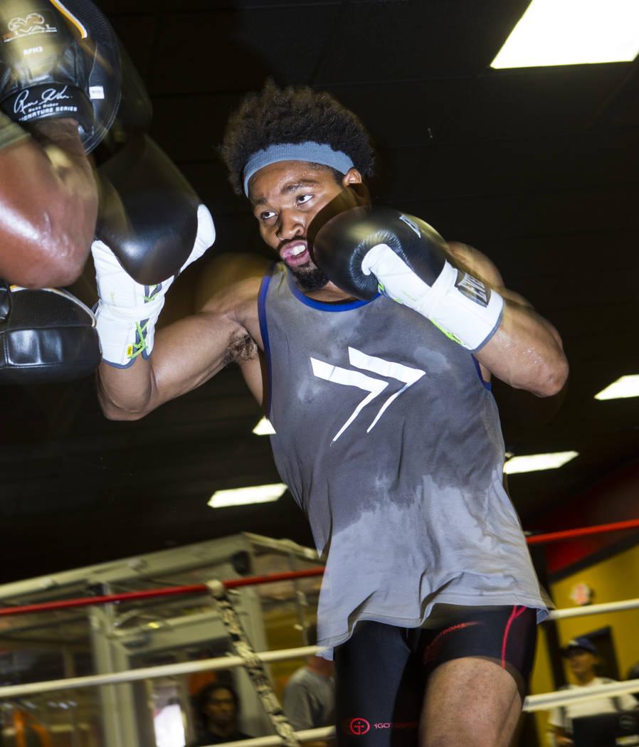 Boxer Shawn Porter works out at Porter Hy-Performance Center in Las Vegas on Wednesday, Aug. 15, 2018. Chase Stevens Las Vegas Review-Journal @csstevensphoto