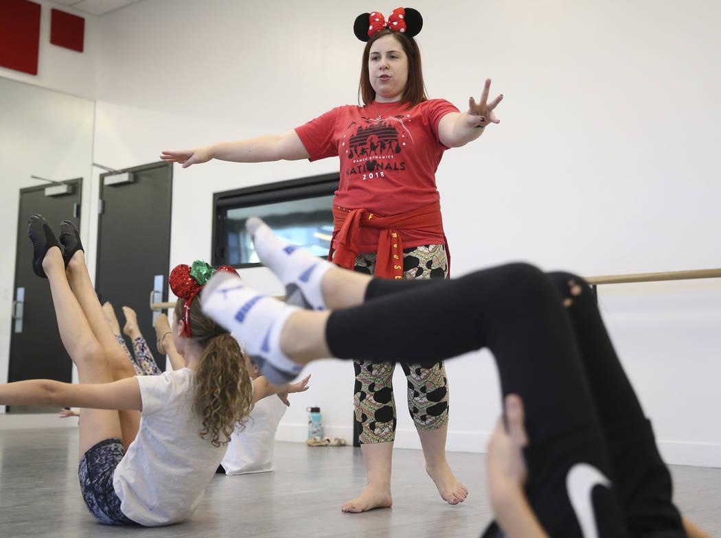 Instructor Stephanie Melanson teaches at the Dance Dynamics dance studio in Las Vegas, Thursday, Sept. 20, 2018. Erik Verduzco Las Vegas Review-Journal @Erik_Verduzco