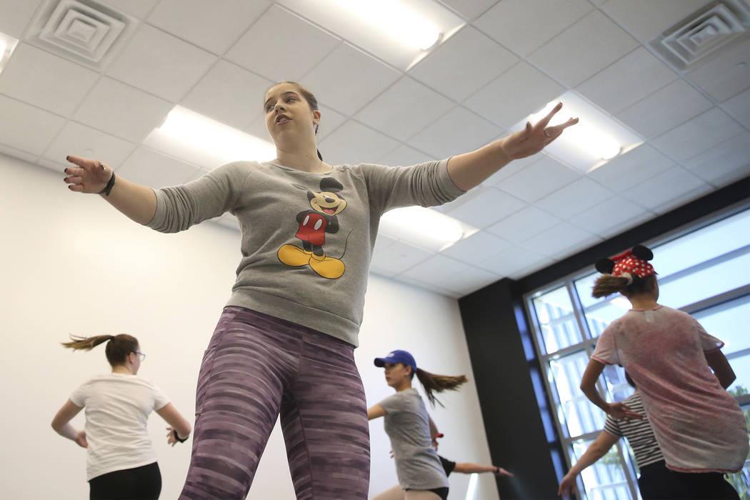 Instructor Paige Melanson teaches at the Dance Dynamics dance studio in Las Vegas, Thursday, Sept. 20, 2018. Erik Verduzco Las Vegas Review-Journal @Erik_Verduzco