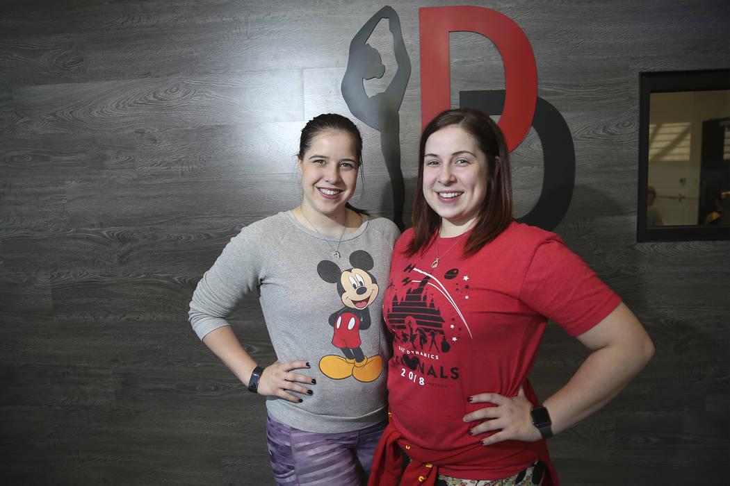 Instructors Paige Melanson, left, and her sister Stephanie, at the Dance Dynamics dance studio in Las Vegas, Thursday, Sept. 20, 2018. Erik Verduzco Las Vegas Review-Journal @Erik_Verduzco