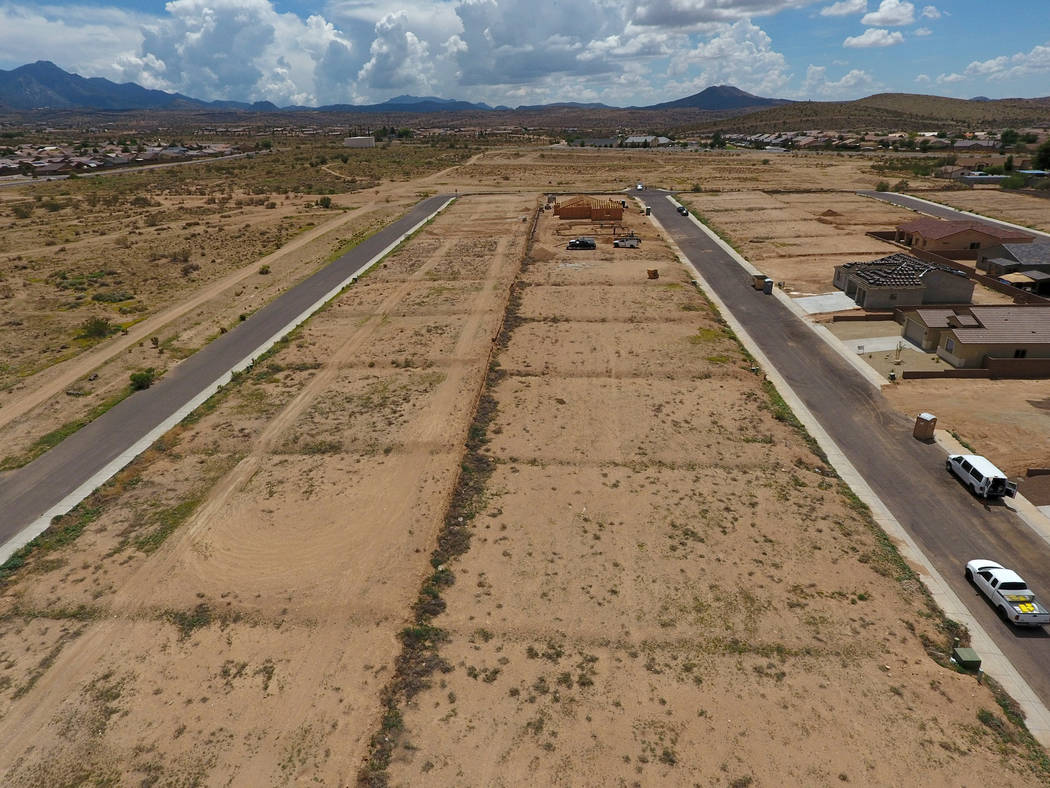Vacant lots between Indigo Street and Wildflower Street await further development in a subdivision off Hualapai Mountain Road in Kingman, Ariz. on Friday, August 17, 2018. Michael Quine Las Vegas ...