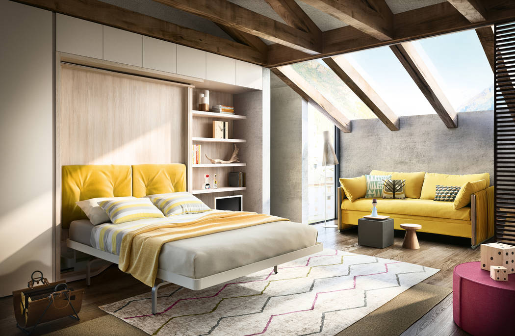 A Murphy bed is a multipurpose piece of furniture that works well in second homes. The LGM Tavolo, designed and made in Italy by Clei, is a desk, queen size bed and shelving unit all in one, offer ...