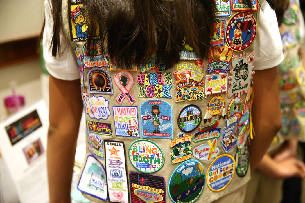 A member of the Girls Scouts of Southern Nevada attends the Steam Career Conference at the Renaissance Hotel in Las Vegas, Saturday, Aug. 25, 2018. Erik Verduzco Las Vegas Review-Journal @Erik_Ver ...