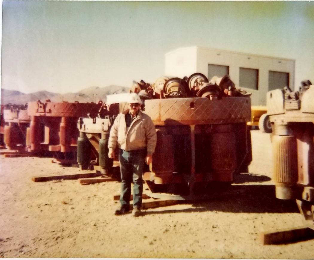 Ted Yanuzis is seen at the Nevada Test Site in this undated photo. (Ted Yanuzis)