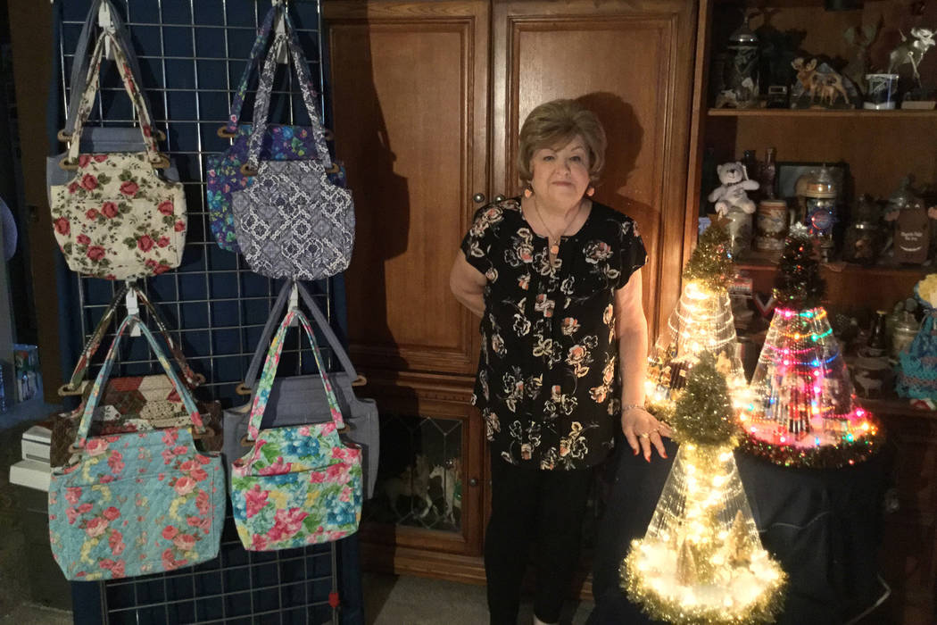 Vicky Brosius and her husband have joined about 250 other vendors for one of the largest arts and crafts festivals in the city. Mia Sims/ Las Vegas Review-Journal