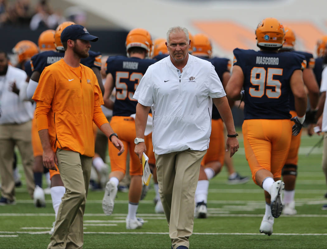 Dana Dimel is in his first season coaching Texas-El Paso. Photo courtesy of UTEP Athletics.
