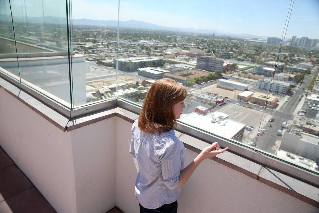 Kerry Gerst, a home owner at the Ogden, is opposed to short-term rentals in her apartment building, in Las Vegas, Friday, Aug. 24, 2018. Erik Verduzco Las Vegas Review-Journal @Erik_Verduzco