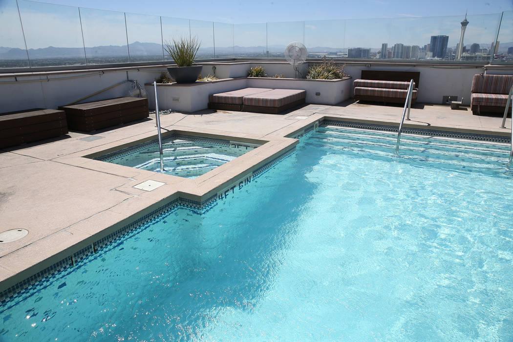 The view from the pool of the Ogden in Las Vegas, Friday, Aug. 24, 2018. Erik Verduzco Las Vegas Review-Journal @Erik_Verduzco
