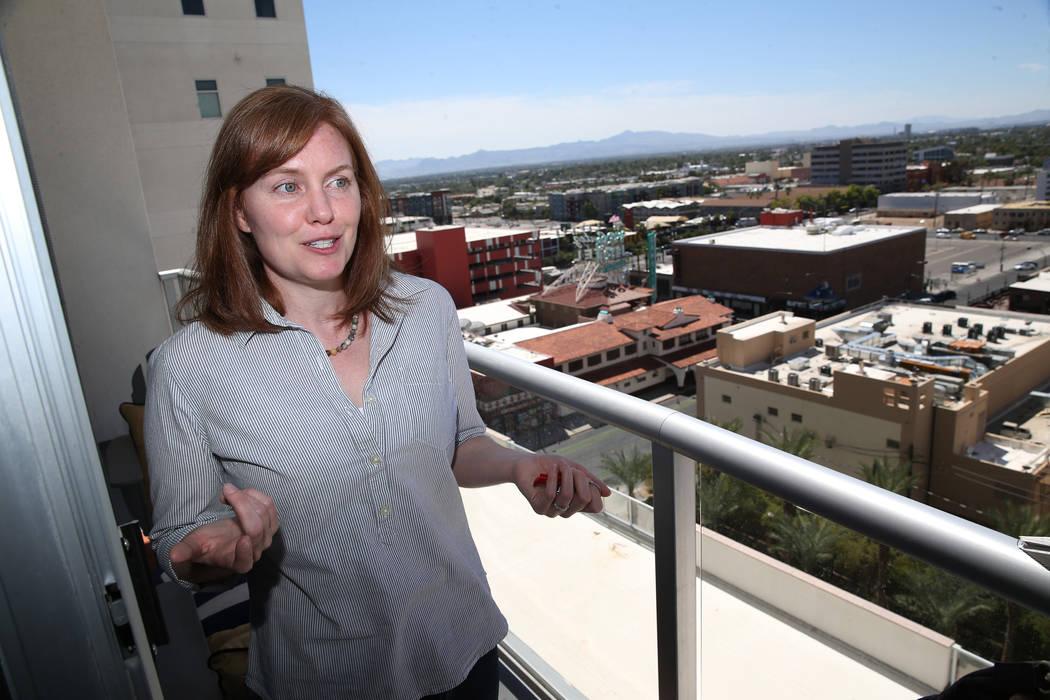 Kerry Gerst is interviewed at her Ogden home in in Las Vegas, Friday, Aug. 24, 2018. Gerst is opposed to short-term rentals in her apartment building. Erik Verduzco Las Vegas Review-Journal @Erik_ ...