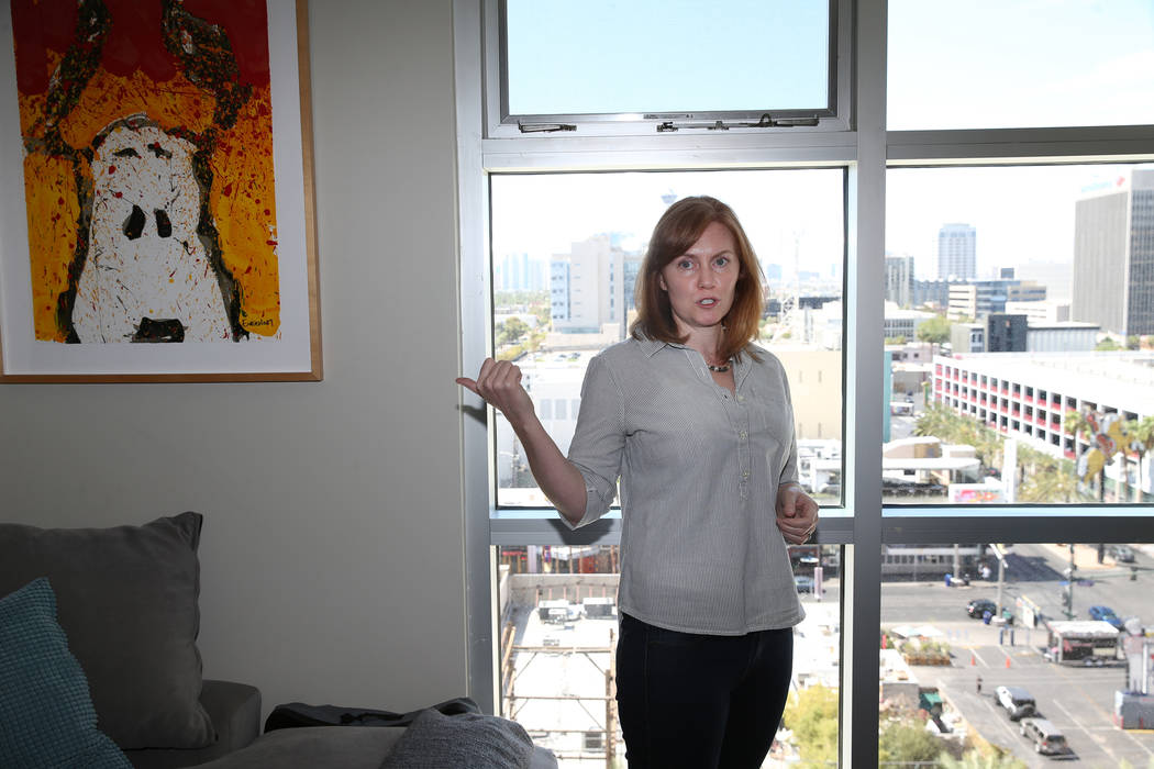 Kerry Gerst is interviewed at her Ogden home in in Las Vegas, Friday, Aug. 24, 2018. Gerst is opposed to short-term rentals in her apartment building. Erik Verduzco Las Vegas Review-Journal @Erik_ ...