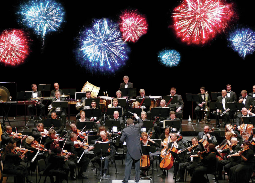 The Las Vegas Philharmonic's 2013 Fourth of July event combined Symphony Park fireworks and a Smith Center concert.