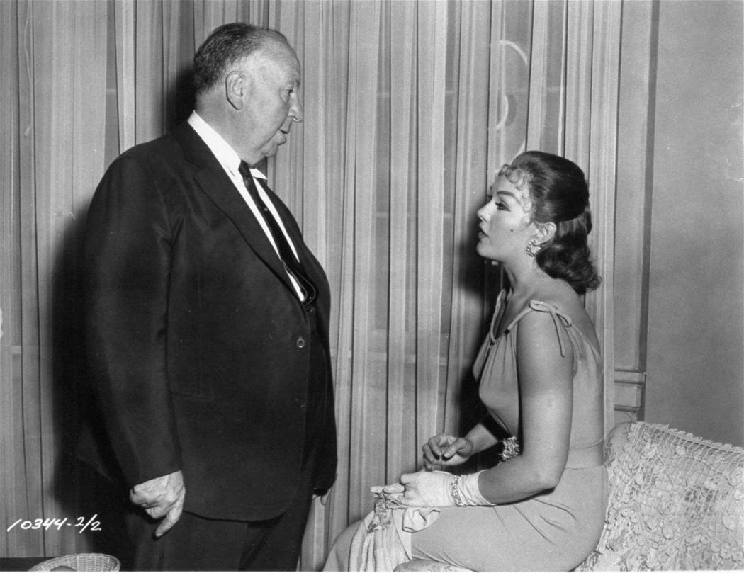"**FILE** Director Alfred Hitchcock has a word with actress Kim Novak in this undated file photo on the set of his 1958 film ""Vertigo"". Novak, the blonde bombshell who was a top box office draw in ..."
