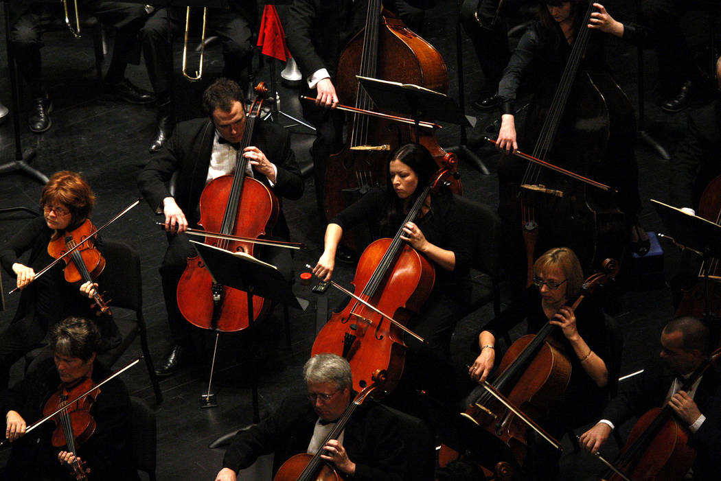 "The Las Vegas Philharmonic performs Gustav Mahler's Symphony No. 2, ""Resurrection"" during their Smith Center debut at the Smith Center for the Performing Arts in Las Vegas on Saturday, Mar. 24, 20 ..."