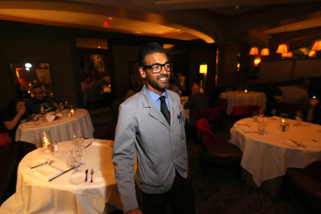 Captain server Yash Gokul at Charlie Palmer Steak at the Four Seasons in Las Vegas Tuesday, Aug. 28, 2018. K.M. Cannon Las Vegas Review-Journal @KMCannonPhoto