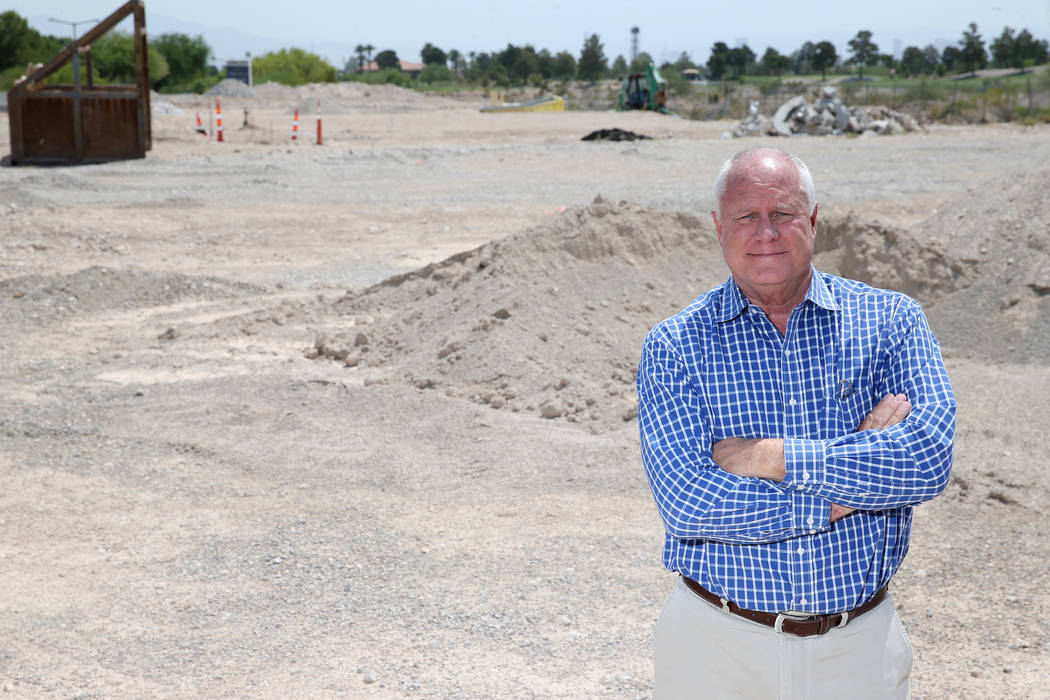 Gary Mayo, group president for Toll Brothers, at the site of the future buildings at the Mira Villa condo complex in Las Vegas. (Erik Verduzco RJRealEstate.Vegas)