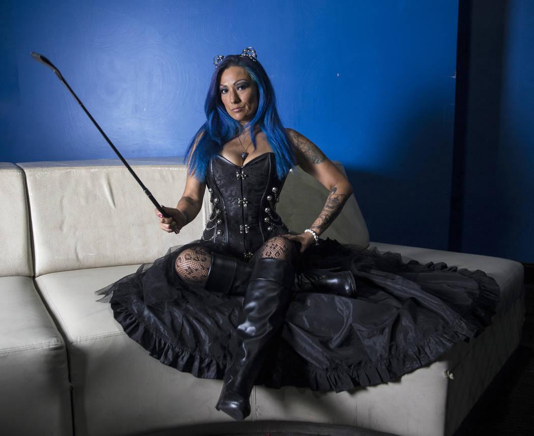 "Blue Richards, aka ""Sapphire DeVil,"" at a Versus Wrestling event on Friday, Aug., 3, 2018, at Neonopolis, in Las Vegas. Benjamin Hager Las Vegas Review-Journal @benjaminhphoto"
