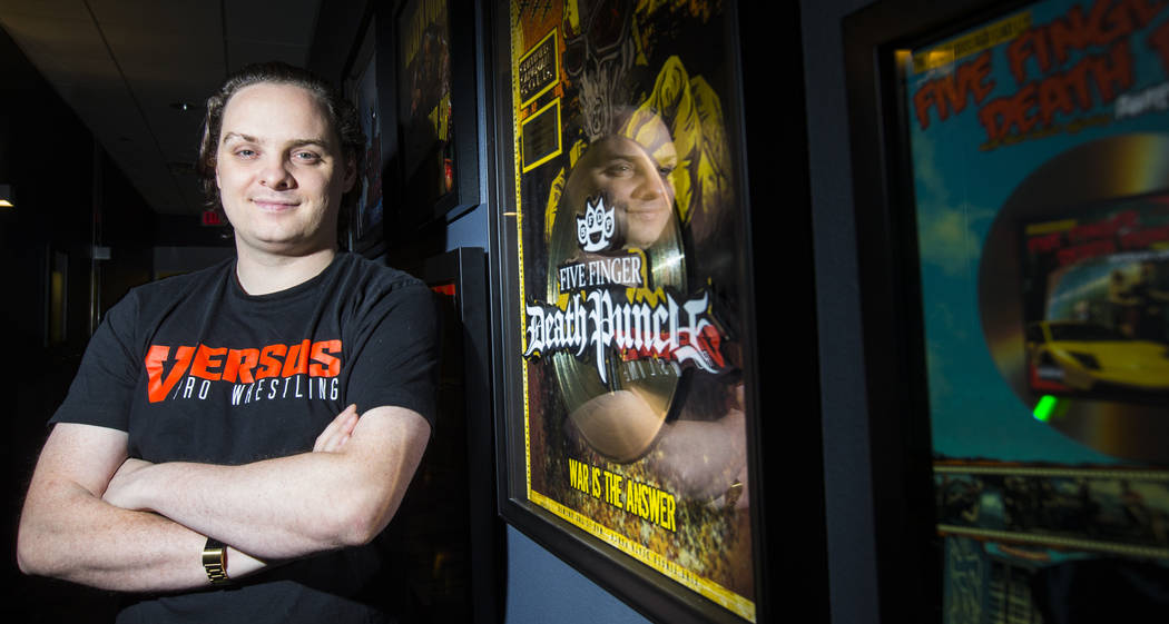 Music producer and recording engineer Kane Churko poses at his studio, The Hideout Recording Studio, in Henderson on Wednesday, Aug. 1, 2018. Churko recently started wrestling company Versus Wrest ...