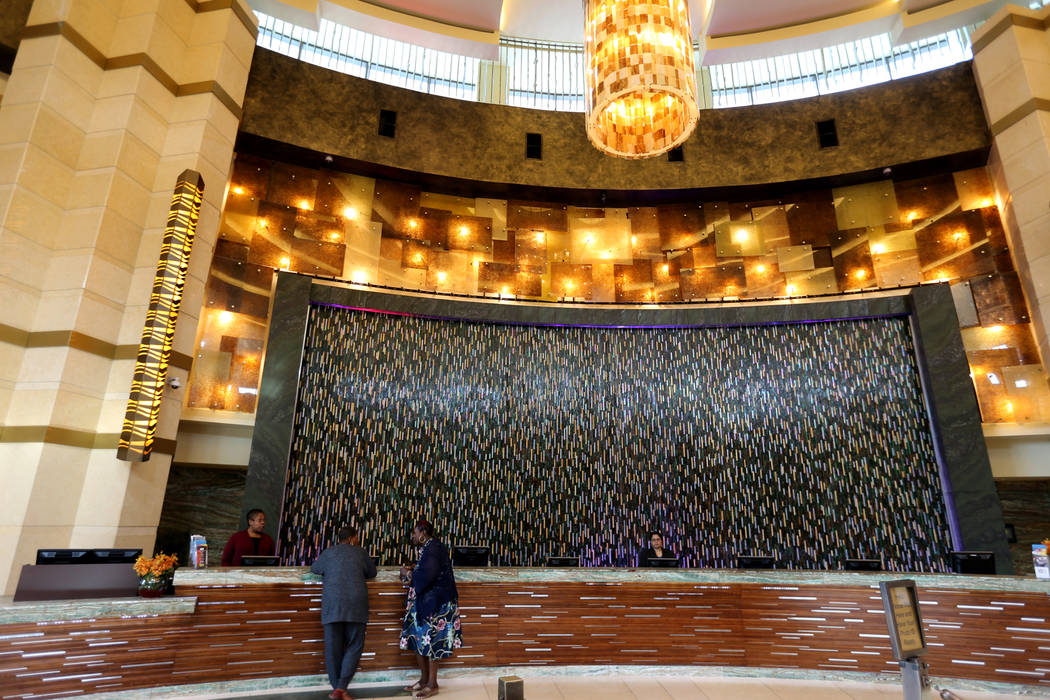 The Fox Tower hotel lobby at Foxwoods Resort Casino in Mashantucket, Conn. Saturday, Aug. 25, 2018. K.M. Cannon Las Vegas Review-Journal @KMCannonPhoto