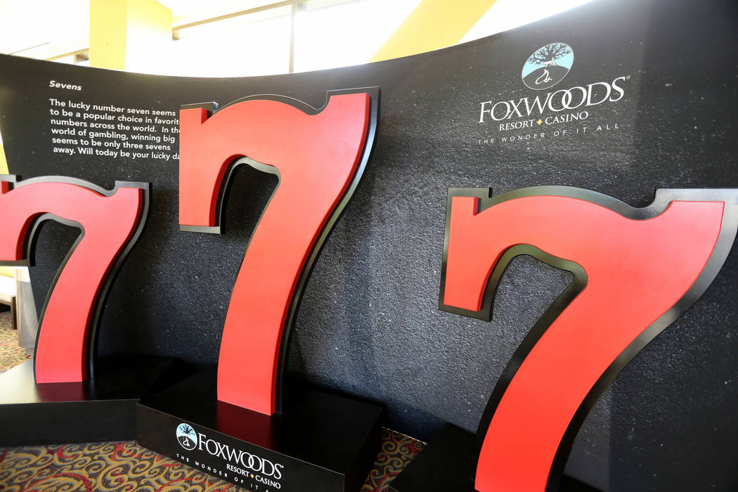 One of 14 Selfie Stations at Foxwoods Resort Casino in Mashantucket, Conn. Saturday, Aug. 25, 2018. Guests take selfies at stations throughout the property, and post the photos to social media. K. ...