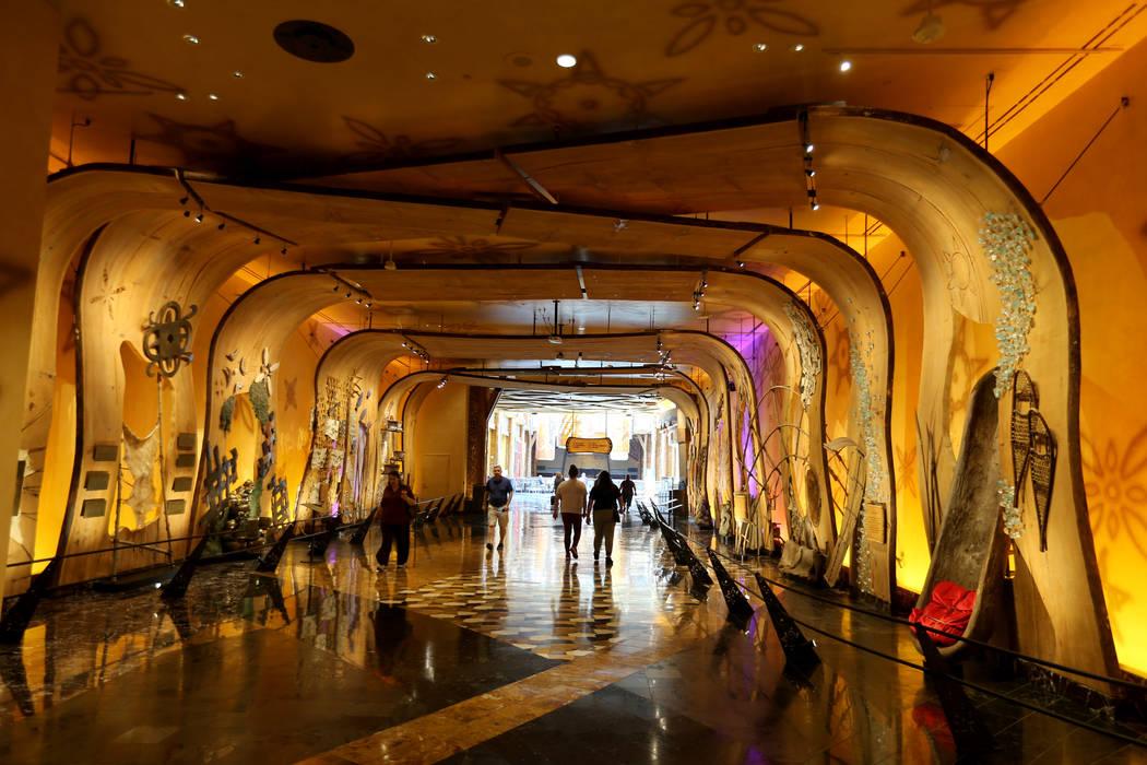 Winter Stories hallway at Mohegan Sun casino in Uncasville, Conn. Saturday, Aug. 25, 2018. K.M. Cannon Las Vegas Review-Journal @KMCannonPhoto