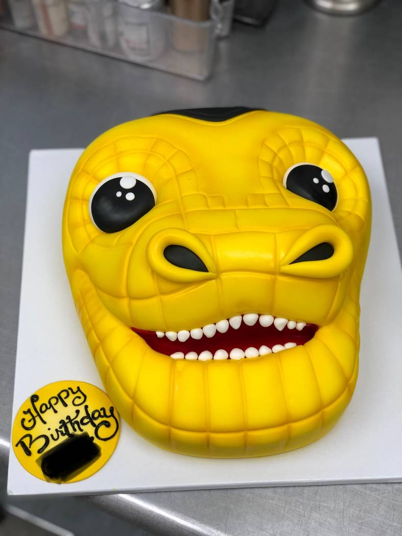 Freed's Bakery baked a cake in the shape of Chance's head. (Freed's Bakery)