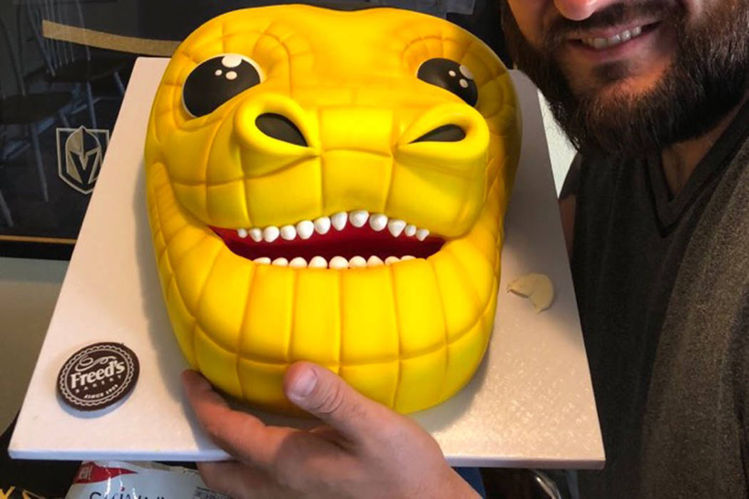 Freed's Bakery baked a cake in the shape of Chance's head. (Twitter)