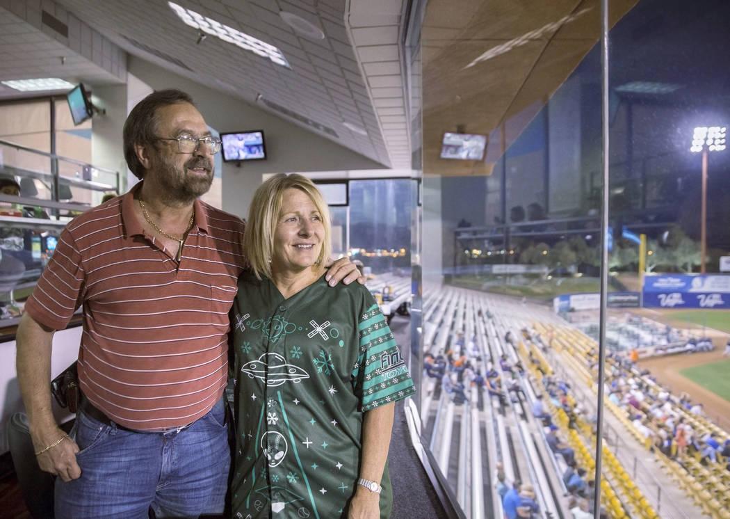 John and Bobbi Muije on Tuesday, Aug. 28, 2018, at Cashman Field, in Las Vegas. Benjamin Hager Las Vegas Review-Journal @benjaminhphoto
