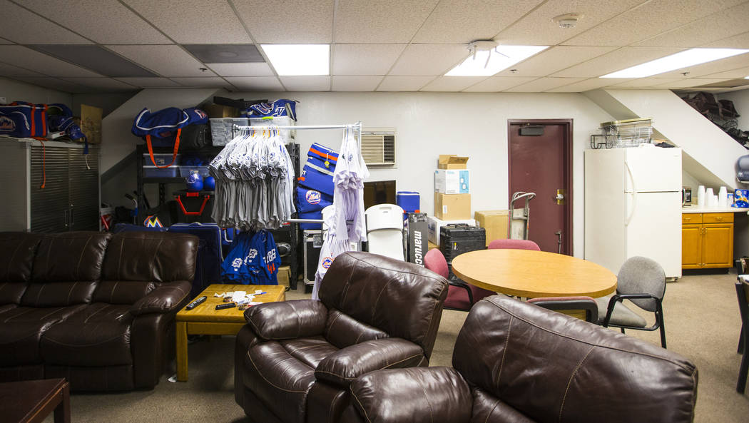 The lounge area at the Las Vegas 51s clubhouse at Cashman Field ahead of the team's move to Summerlin in Las Vegas on Wednesday, Aug. 29, 2018. Chase Stevens Las Vegas Review-Journal @csstevensphoto