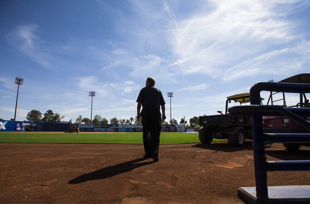 Don Logan, president and chief operating officer of the Las Vegas 51s, tours Cashman Field ahead of the team's move to Summerlin in Las Vegas on Wednesday, Aug. 29, 2018. Chase Stevens Las Vegas R ...