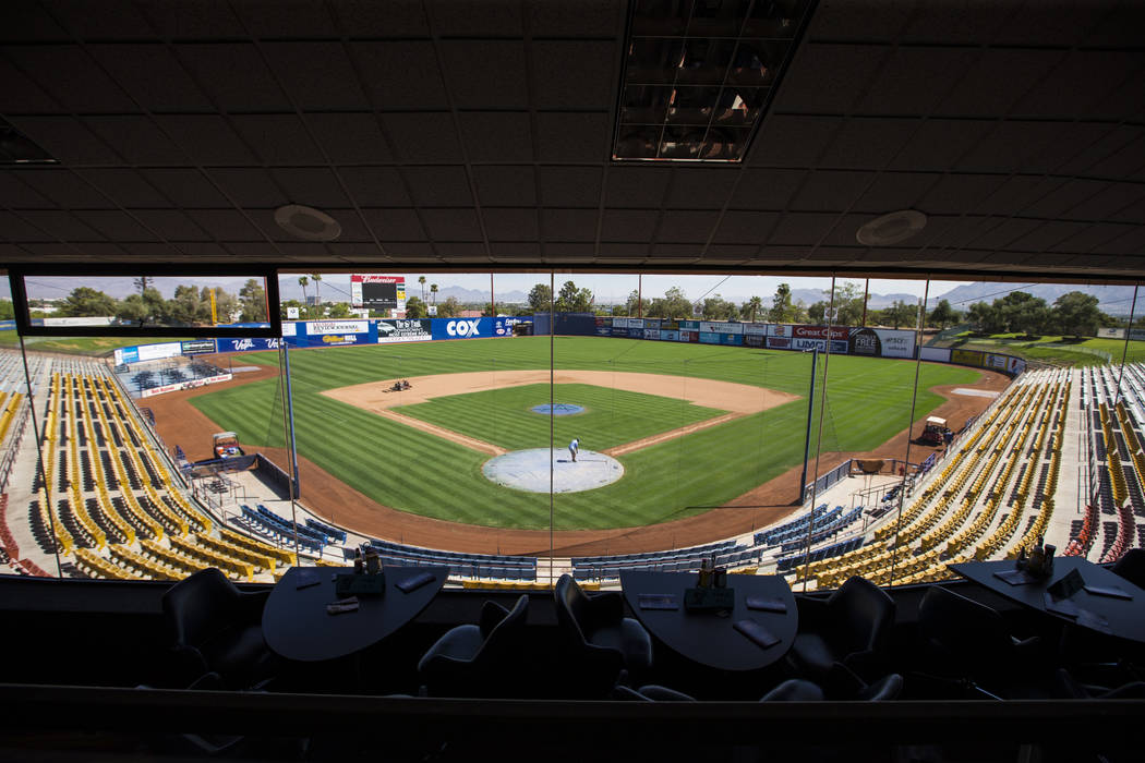 A view of Cashman Field from the club level ahead of the team's move to Summerlin in Las Vegas on Wednesday, Aug. 29, 2018. Chase Stevens Las Vegas Review-Journal @csstevensphoto