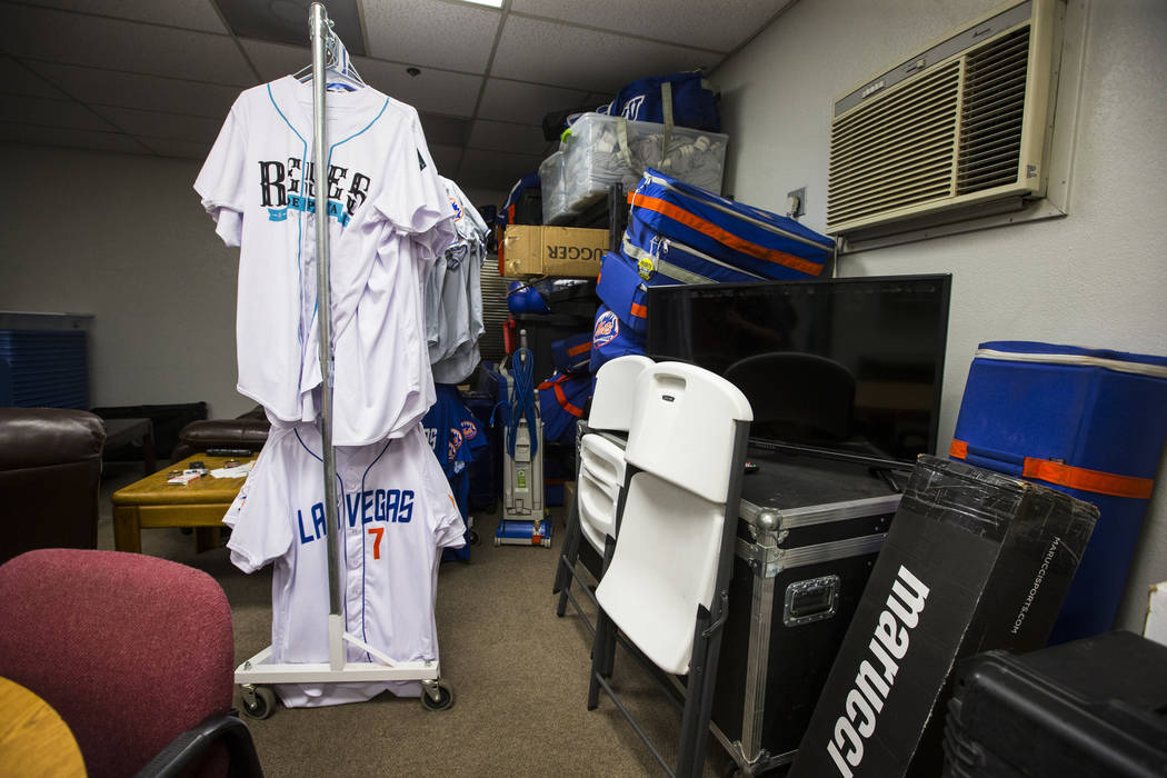 Storage in the lounge area at the Las Vegas 51s clubhouse at Cashman Field ahead of the team's move to Summerlin in Las Vegas on Wednesday, Aug. 29, 2018. Chase Stevens Las Vegas Review-Journal @c ...